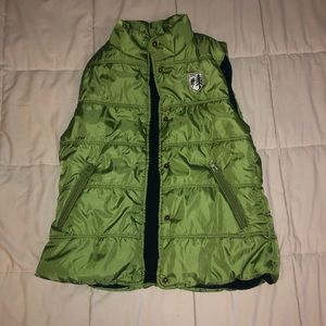 size xs green american eagle outfitters puffy vest